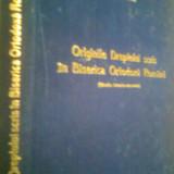 ORIGINILE DREPTULUI SCRIS IN BISERICA ORTODOXA ROMANA -IOAN N. FLOCA (1969)