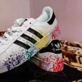 Adidas Originals Superstar II Color Style - marimea 41 2/3 - Adidasi barbati, Marime: 41-42, Culoare: Alb