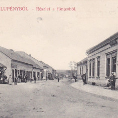 LUPENI, SALUTARI DIN LUPENI, STRADA CU MAGAZINE, 1907, PETROSANI, HUNEDOARA - Carte Postala Transilvania 1904-1918, Necirculata, Printata