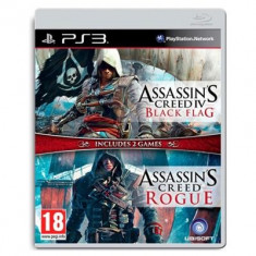 Assassin's Creed 4 Black Flag Si Assassin's Creed Rogue Compilation Ps3 - Jocuri PS3 Ubisoft