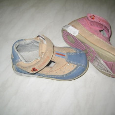 Pantofi piele fetite WINK;cod LL462-1(albastru);-3(roz);marime:20-26 - Sandale copii Wink, Marime: 22, Fete, Piele naturala