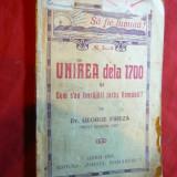 Dr.G.Fireza-Preot roman unit -Unirea dela 1700- Ed. Lugoj 1921 Sionul Romanesc - Carti Istoria bisericii