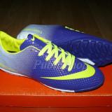 Adidasi barbati Nike, Piele sintetica - Adidasi Nike Mercurial mov/verde Model Fotbal!!
