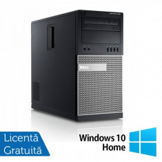 Sisteme desktop fara monitor - Dell OptiPlex 990 Tower, Intel Core i5-2400, 3.10Ghz, 4Gb DDR3, 250Gb SATA, DVD-ROM + Windows 10 Home