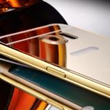 Husa/Carcasa Slim Samsung Galaxy S6 edge LUX GOLD Oglinda Aluminiu, Acrylic, Auriu