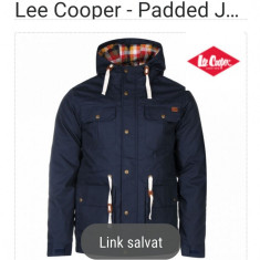 Geacă de Primăvară -Toamnă marca Lee Cooper cu etichetă de vanzare intact Anglia - Geaca barbati Lee Cooper, Marime: M, Culoare: Bleumarin