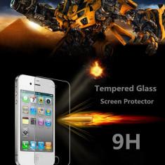 Folie de protectie, iPhone 4/4S, Anti zgariere - FOLIE STICLA SECURIZATA Iphone 4 9H