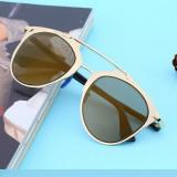 Ochelari de soare - Ochelari soare unisex aurii stil retro vintage
