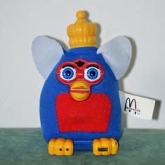 Jucarii plus - Jucarie Furby Rege, din material textil, McDOnalds 2001, 13 cm