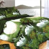 Lenjerii de pat cu efect 3D din bumbac dublu satinat - Elegant Pucioasa SEP3D-2