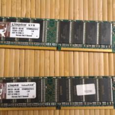 Memorie RAM Kingston, DDR, 512 MB, 400 mhz - Ram PC Kingston 512Mb DDR1 KVR400X64C25/512