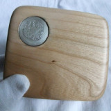 Rusia - Tabachera argint in caseta
