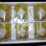 Pahare - Set 6 cani sticla