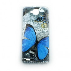 Husa telefon - Capac de protectie din plastic solid, model fluture, pentru Allview P5 Quad