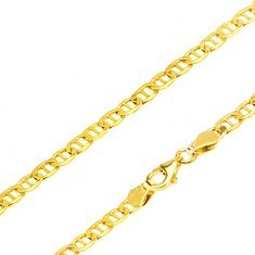 Lanț aur galben 14K - zale eliptice cu pivot, 510 mm - Lantisor aur