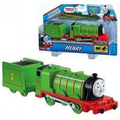 Trenulet locomotiva motorizata Henry cu vagon - Thomas&Friends Track Master - Trenulet de jucarie Fisher Price