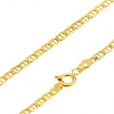 Lanț aur galben 14K - zale mici despărțite de un pivot, 500 mm - Lantisor aur