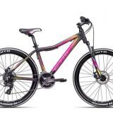 "Bicicleta dama CTM Charisma 2.0, 2016, cadru 16"", negru mat / galben Cod Produs: 037.33"