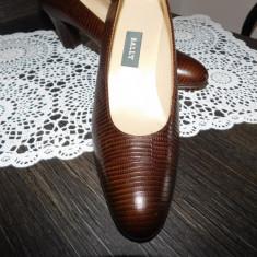BALLY - PANTOFI PIELE NATURALA, ORIGINAL NR 38 - Pantof dama Bally, Culoare: Din imagine