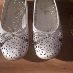 Balerini fete mar 33 ( papuci, pantofi ) - Balerini copii, Culoare: Alb