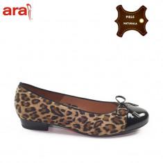 Balerini dama piele naturala ARA tigrat + lac (Marime: 36)
