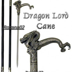 SABIE BASTON. Baston Dragon Lord Cane. Full Metal Sabie tip STILET. NOU