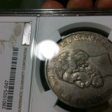 ROMANIA  5 LEI 1884  XF 45    NGC