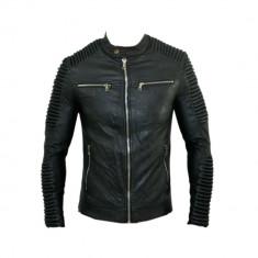 Geaca gen Zara Motto - Piele Eco Slim - Toate Masurile D501 - Geaca barbati, Marime: S, L, L/XL, Culoare: Din imagine