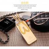 Husa slim din silicon cu urechi de iepuras iphone 6 plus, 6s plus - auriu - Husa Telefon, iPhone 6/6S, Transparent