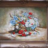 Pictura flori de camp semnat Cimpoesu. - Pictor roman, Ulei, Realism