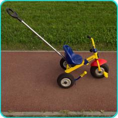 TRICICLETA KETTLER, copii 2-4 ani, ROTI GONFLABILE, extensibila, mâner împingere - Tricicleta copii Kettler, Baiat, Multicolor