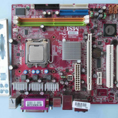 OFERTA! -Placa de baza MSI MS-7255 DDR2 PCI Express Video onboard socket 775, Pentru INTEL, LGA775, Contine procesor, MicroATX