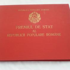 BREVET PREMIUL DE STAT AL RPR CLASA III MAPA, CARNET, BREVET 1954 - Ordin
