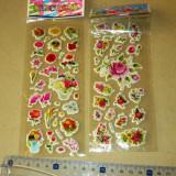 Set stickere pufoase - PVC abtibilduri trandafiri copii - 2+1 gratis - RBK18059