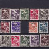 ROMANIA 1930, VULTURI CU STEAG, 2 SERII STAMPILATE - Timbre Romania