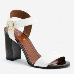 Sandale dama GIULIO. Model Piele Naturala Alba, Marime: 36, 37, 38, 40, 34, 35