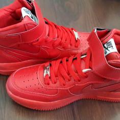 Ghete Nike Air Force rosu- BARBATI - Ghete barbati Nike, Marime: 40, 41, 42, 43, 44, Culoare: Din imagine, Piele sintetica
