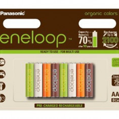 Pandantiv aur - 8 AAA Panasonic Eneloop Organic Limited Edition NK001