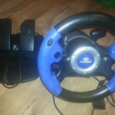 Volan + Pedale + schimbator viteze profesional Racing Wheel pt PLAYSTATION 2 PS2
