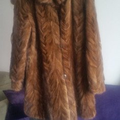 Palton dama - Vand haina blana dama lunga din nurca