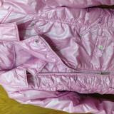 Haine Copii 10 - 12 ani - Jacheta fete originala, Hannah Montana, roz metalizat 8-12 ani
