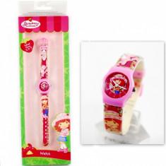 Ceas Copii - Ceas cu Capsunica, un cadou minunat pentru fetite + Cutie imprimata