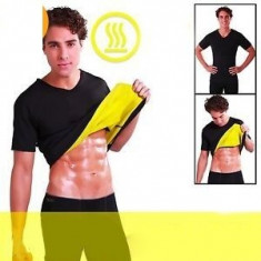 Set pantaloni si tricou de slabit pentru barbati Hot Shapers - Echipament Fitness, Bluza