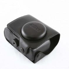 Husa neagra piele eco pentru Nikon P7000 P7100 - Husa Aparat Foto