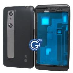 Baterie telefon, iPhone 5/5S, Li-polymer - Carcasa rama fata mijloc corp spate capac baterie LG P920, P925 Optimus 3D NOUA
