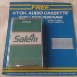 Casetofon - Caseta audio sigilata TDK D90 Salem (tobacco promo) Rara!
