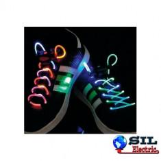 Pantofi copii - Sireturi de pantofi cu led, verzi/mov, BasicXL