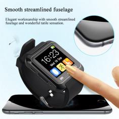 Ceas SmartWatch U8 Nou in Cutie Bluetooth Ceas pentru telefoane Android - Negru