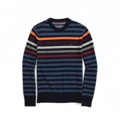 Pulover Tommy Hilfiger Men's Striped Crew masura S si M - Pulover barbati Tommy Hilfiger, Marime: S, M, Culoare: Din imagine