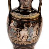 Vaza din ceramica decorata cu foita de aur 24K, 20 cm - Suport flori